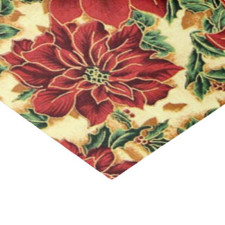 Floral Christmas pattern tissue paper