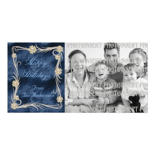 Floral ChristmasPhoto Cards Photo Greeting Card