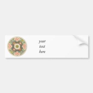 Floral Circle Bumper Sticker
