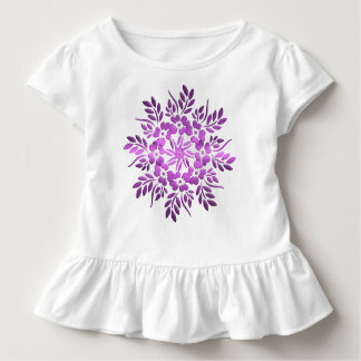 Floral circles purple element. toddler T-Shirt