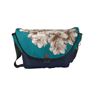 Floral Coffee Brown Illustrated Flower + Color Commuter Bags