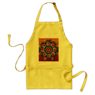 Floral Color Abstract Vector Art Apron