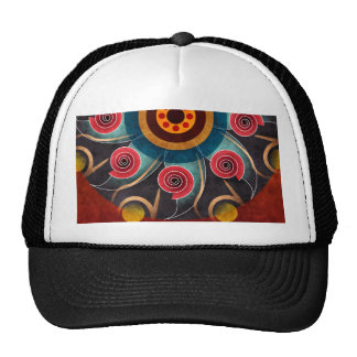 Floral Color Abstract Vector Art Hat