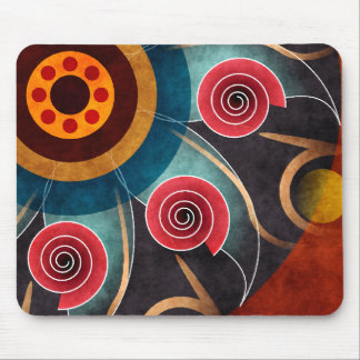Floral Color Abstract Vector Art Mousepad