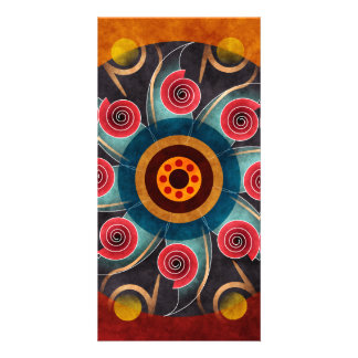 Floral Color Abstract Vector Art Photo Card