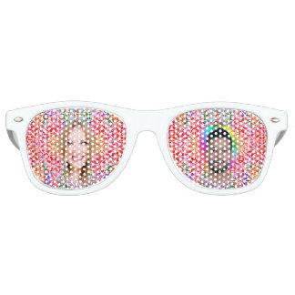 Floral Colorful Mosaic - Red Pink, Retro SunGlass Retro Sunglasses