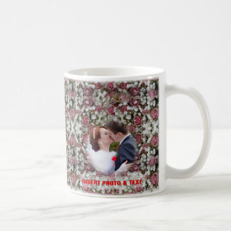 Floral Colorful Mosaic - Roses Wedding Photo Mug
