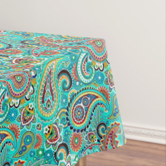 Floral Colorful Paisley Tablecloth