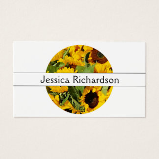 Floral Colorful Sunflowers Flowers Feminine Business Card