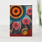 Floral Colour Abstract Vector Art Greeting Card