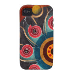 Floral Colour Abstract Vector Art iPhone 4 Vibe Case-Mate iPhone 4 Cover