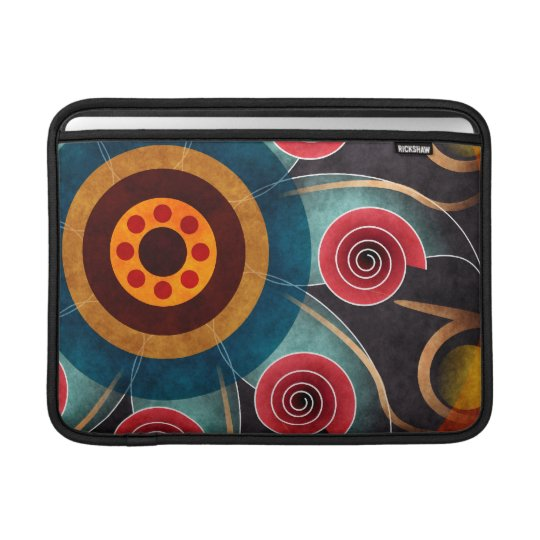 Floral Colour Abstract Vector Art Macbook Air Sleeve For MacBook Air