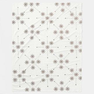 Floral Constellation (Abstract) Fleece Blanket