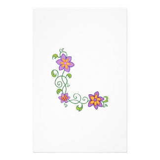 FLORAL CORNER CUSTOMIZED STATIONERY