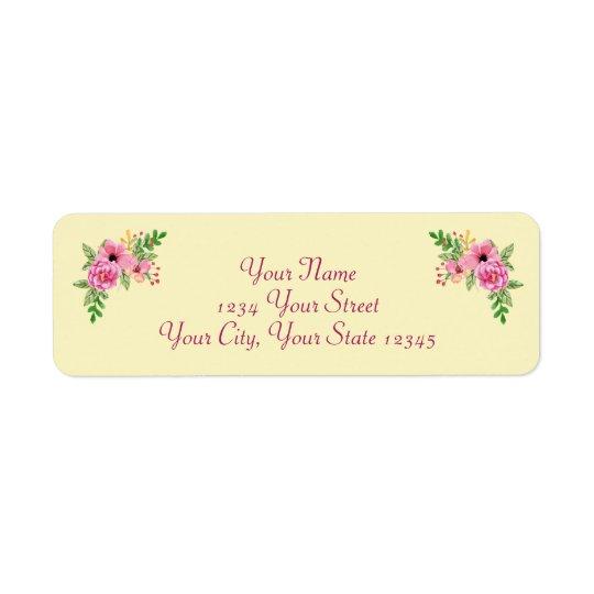 Floral Cornered Label