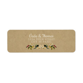 Floral Country Address Labels