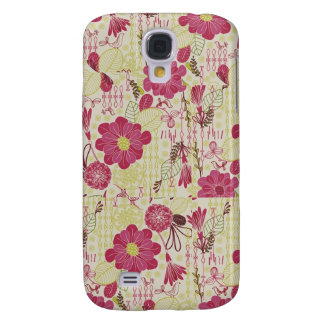Floral Cover Galaxy S4 Case