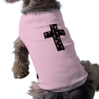 Floral Cross Doggie Tee