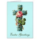 Floral Cross Easter Greetings Card
