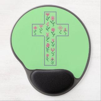 Floral Cross Gel Mouse Pad