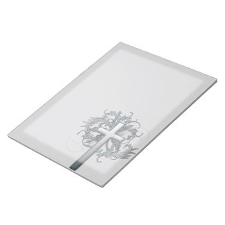 Floral Cross Notepad