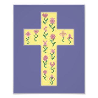 Floral Cross Art Photo