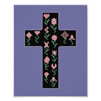 Floral Cross Photo Art