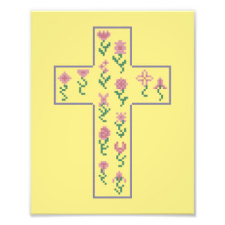 Floral Cross Photo Print