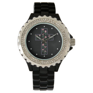 Floral Cross Watch