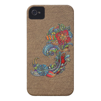 Floral Curls Abstract Modern Art iPhone 4 Case-Mate Case