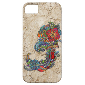 Floral Curls Abstract Modern Art iPhone 5 Cases