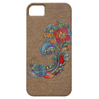 Floral Curls Abstract Modern Art iPhone 5 Cover