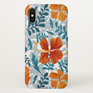 Floral Custom iPhone X Glossy Case