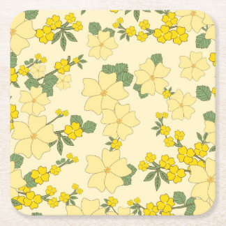 Floral Custom Square Coasters