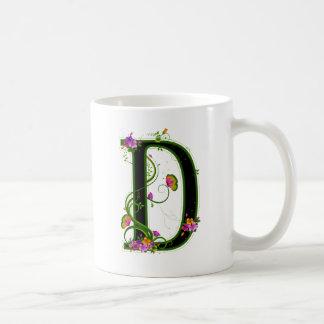 Floral D Mugs