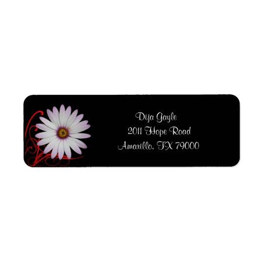 Floral Daisy Address Label