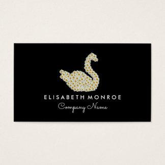 Floral Daisy Swan Business Card