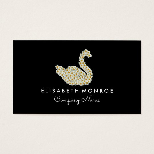 Floral Daisy Swan Business Card