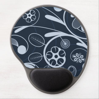 Floral Damask blue Gel Mouse Pad