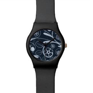 Floral Damask blue Wristwatch