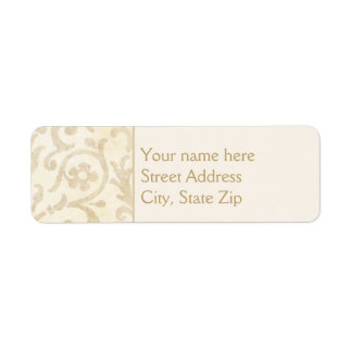 Floral Damask Creme and Beige