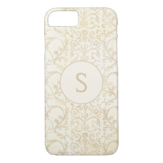Floral Damask Creme and Beige iPhone 8/7 Case