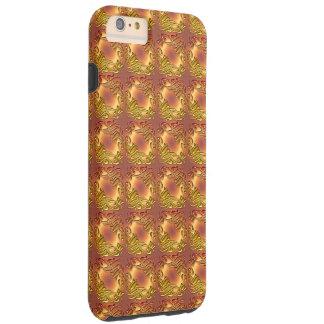 Floral damask golden pattern tough iPhone 6 plus case