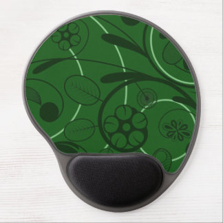 Floral Damask green Gel Mouse Pad
