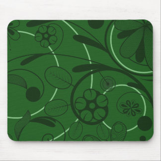 Floral Damask green Mouse Mat