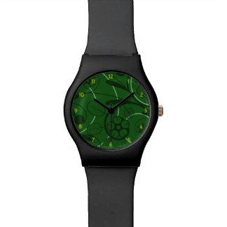 Floral Damask green Wristwatch