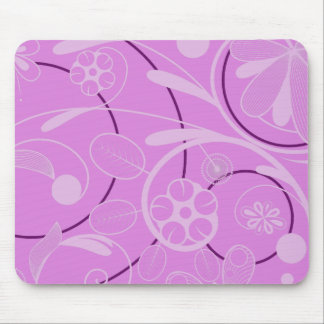 Floral Damask pink Mouse Pad