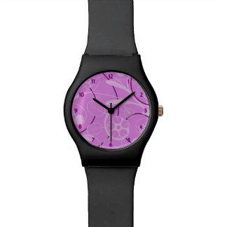 Floral Damask pink Wristwatch