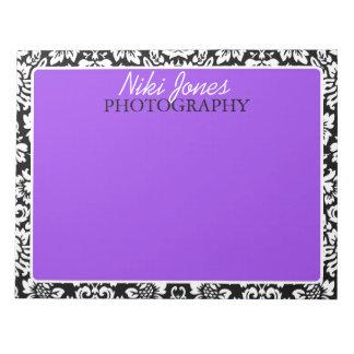 Floral Damask | Purple Notepad