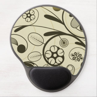Floral Damask tan Gel Mouse Pad